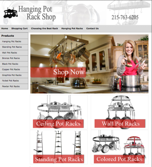 Hanging Pot Rack Shop
