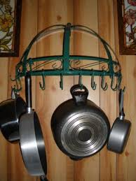 Kinetic Green Semi-Circle Wall Mounted Pot Rack
